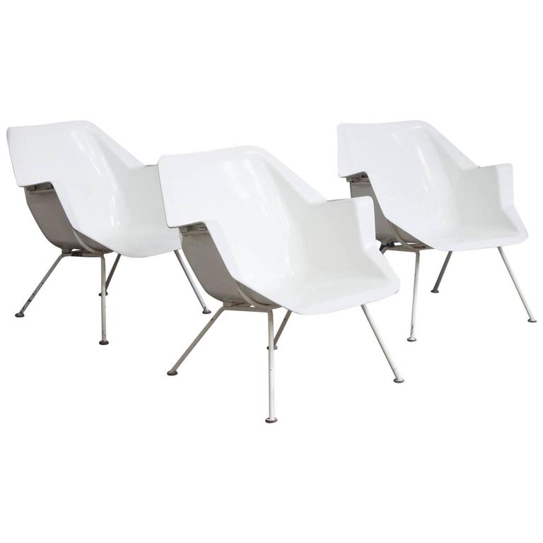 1957, Wim Rietveld/André Cordemeyer, Three Chairs, 416 Version by Gispen Holland For Sale