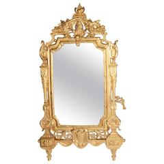 19th Century French Gilt Framed Mirror