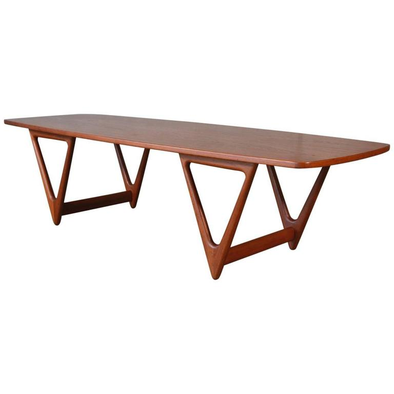 Teak Coffee Table by Kurt Ostervig for Jason Mobler