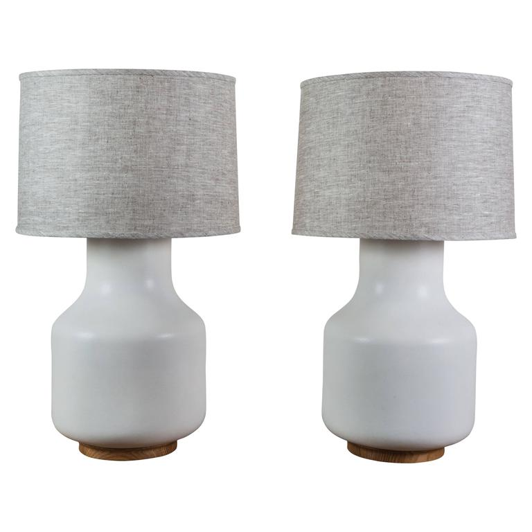 Pair of Simone Lamps by Stone and Sawyer 1
