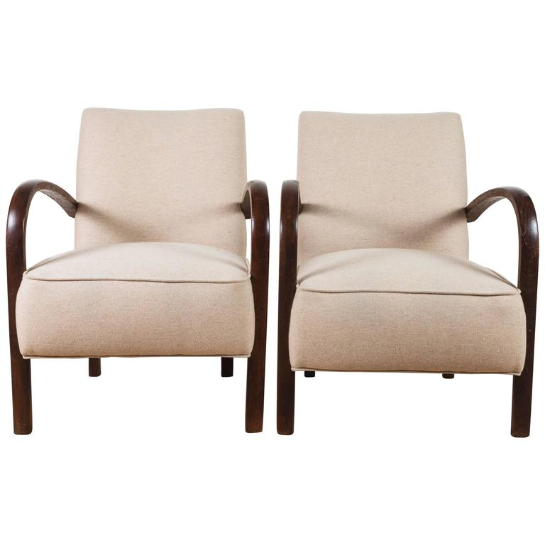 Pair of French, 1940s Club Chairs 1