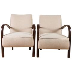 Pair of French, 1940s Club Chairs