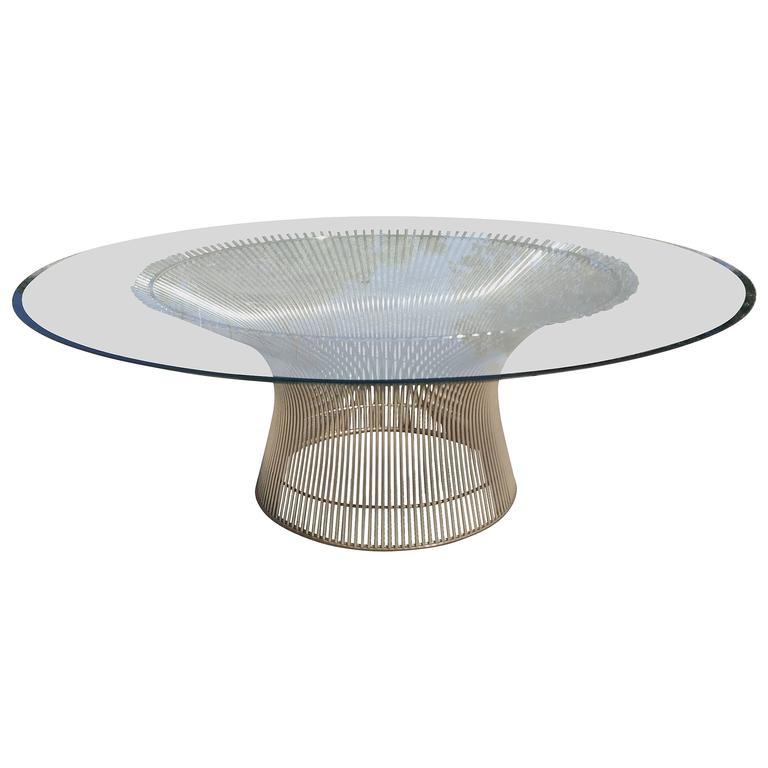 Mid century modern coffee table by warren platner at 1stdibs for Warren platner coffee table