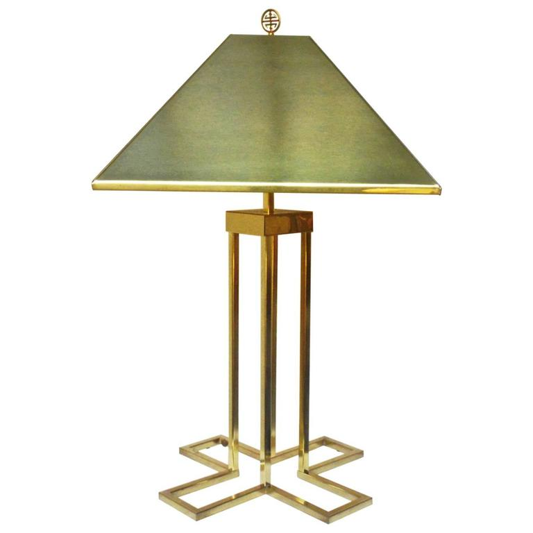 Brass Table Lamp by C. Jere, Signed