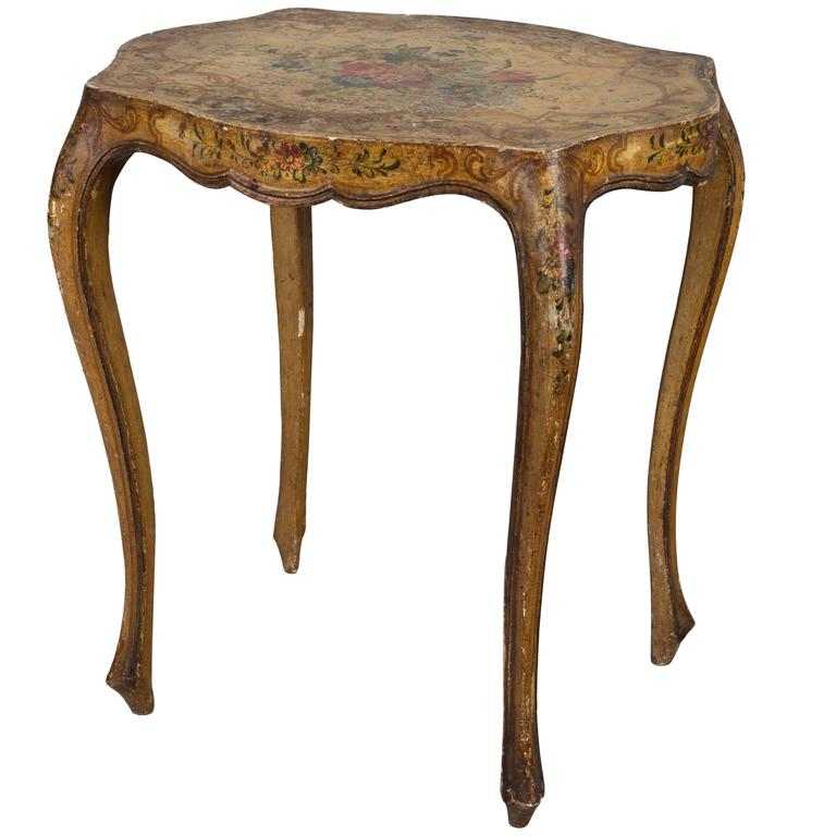Italian Painted Side Table 1