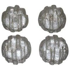 Sculpture Glass Wall Sconces Italian Design, 1950s Murano Glass Round