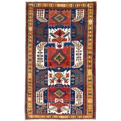 Antique Caucasian Kasim Ushak Kazak Rug