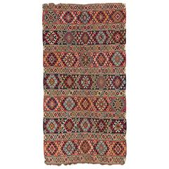Antique Caucasian Shirvan Kilim Rug