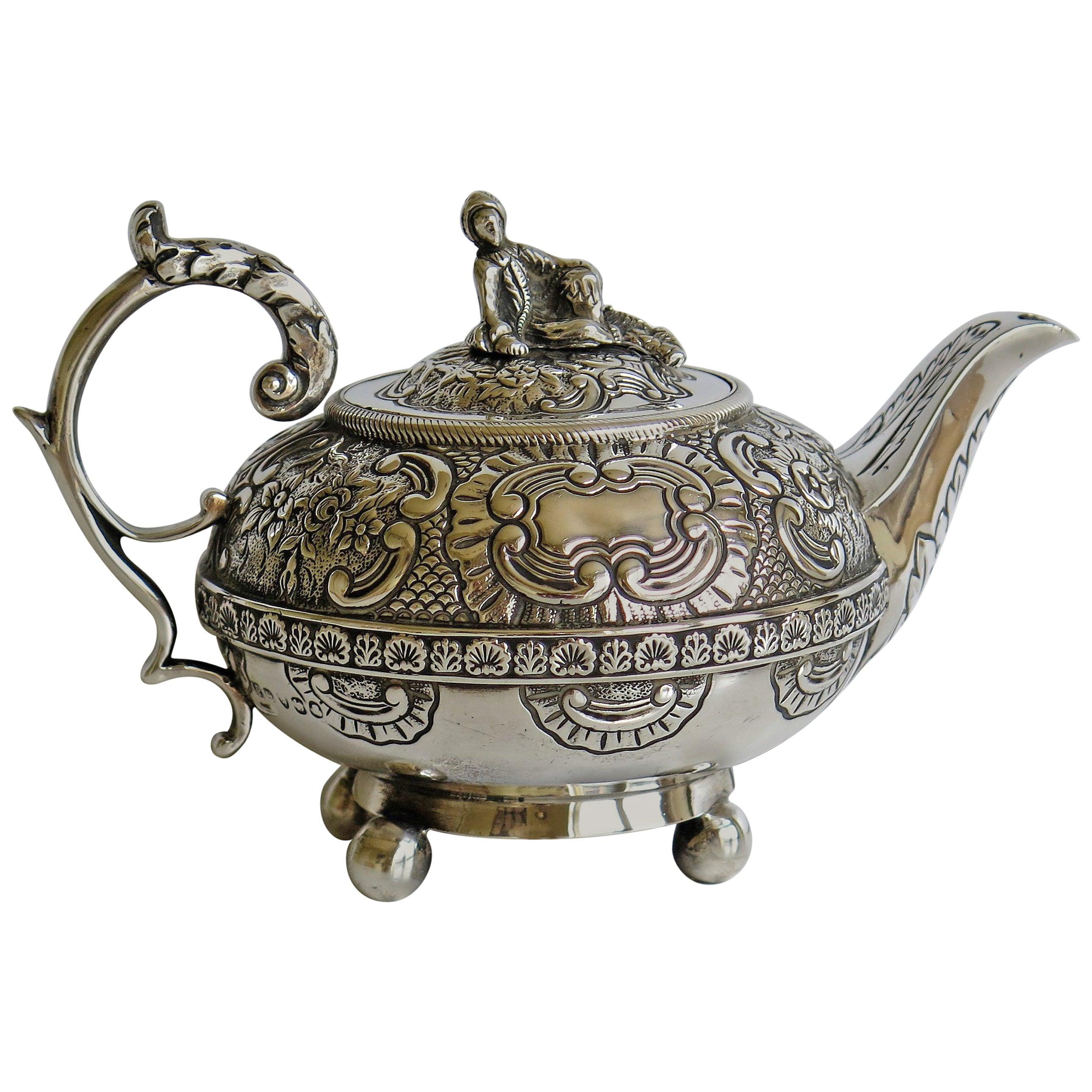 Georgian Bachelors Teapot Sterling Silver by Joseph Preedy, London 1817