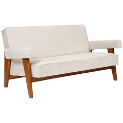 Rare Lounge Sofa from Le Corbusier and Pierre Jeanneret