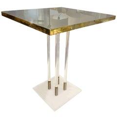 Mid-20th Century Italian Brass Coffee Table