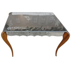 Mid-20th Century Mirrored Table