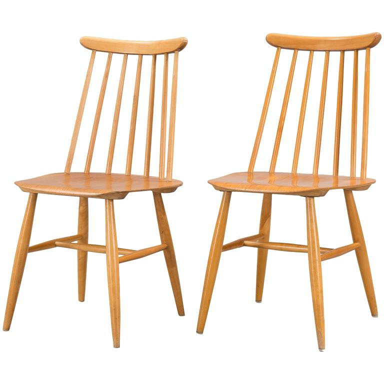 Pair of Ilmari Tapiovaara Dining Chairs For Sale