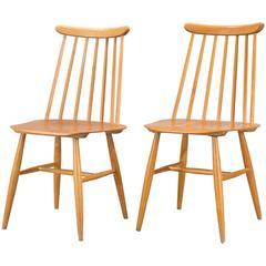 Pair of Ilmari Tapiovaara Dining Chairs
