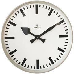 Large Siemens Factory or Workshop Wall Clock