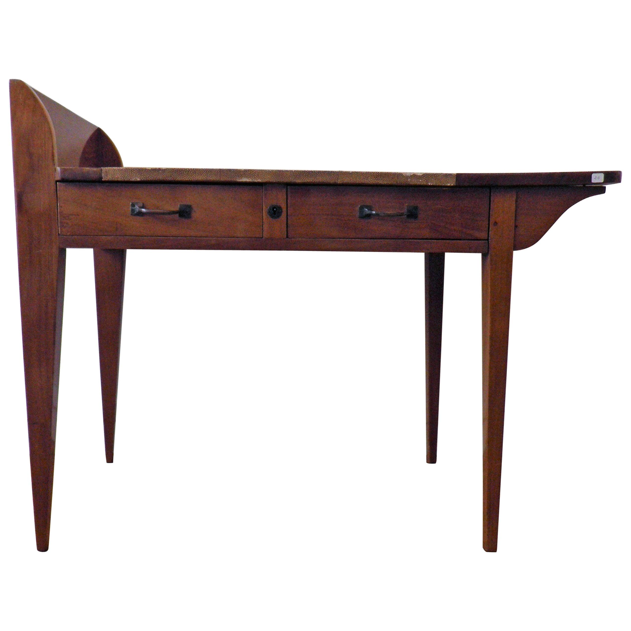 Exceptional Asymmetric Student Desk by Eugène Printz, Art Déco, France, 1930s