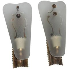 Pair of Wall Sconces Mid-Century Italian Sconces