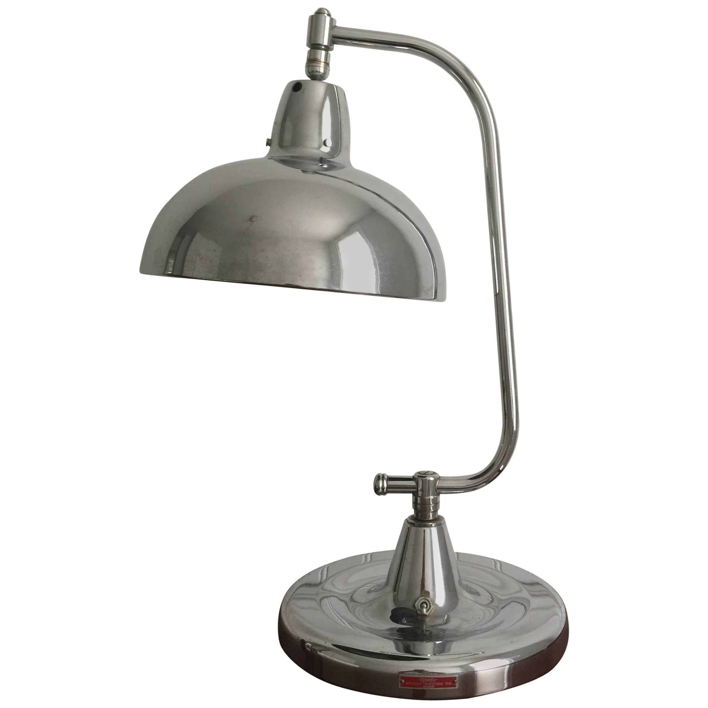 1940s Chrome Jeweler's Lamp