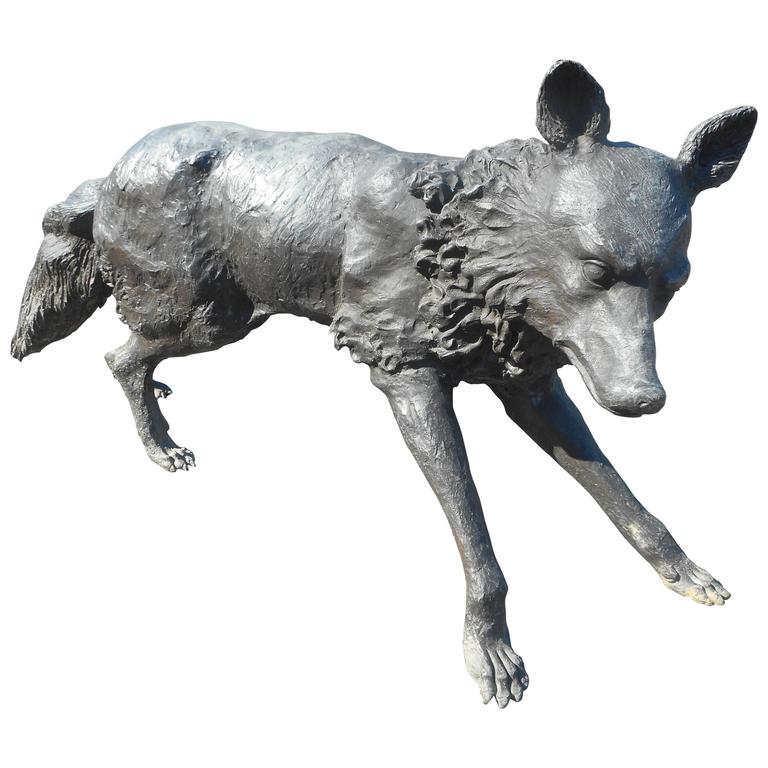 Unique Bronze Wolf Statue For Sale At 1stdibs