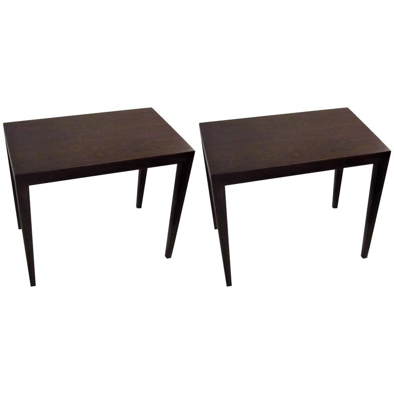 Pair of Mid-Century Danish Rosewood Side Tables