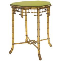 French Napoleon III Giltwood Faux Bamboo Table, circa 1870