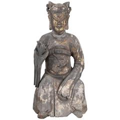 Qing Sculpture of Dignitary, 17th Century