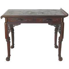 Rare French Japonisme Table by Gabriel Viardot, circa 1880