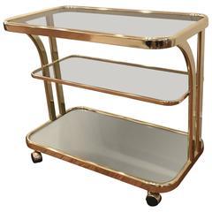 Morex Italian Brass Bar Cart