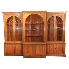 English Pine Bookcase and Display Cabinet