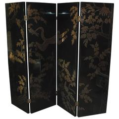 Adnet Style Brass Inlay Screen