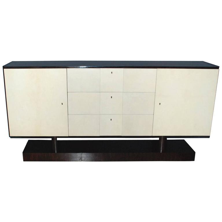 Art Deco Style Parchment Credenza
