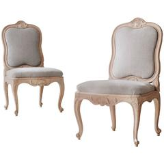 Pair of Swedish 18th Century Rococo Chairs