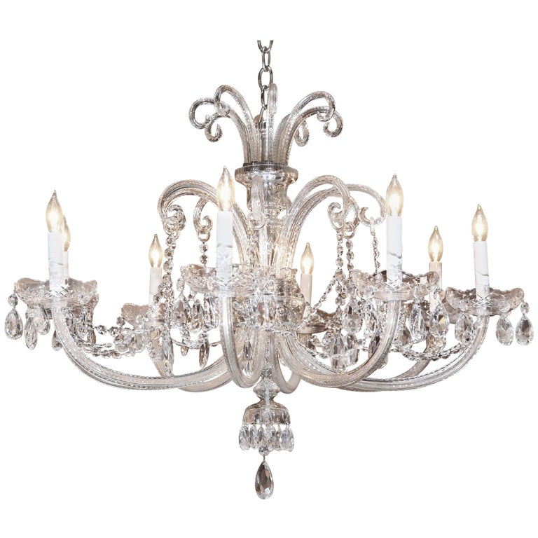 Vintage Eight-Arm Crystal Chandelier