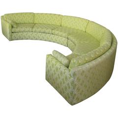 Semi Circular Curved 1970s Sectional Sofa by Milo Baughman