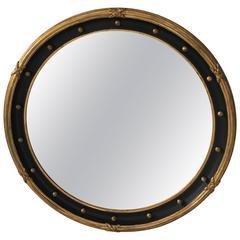 Stunning Big Round Neoclassical Antique Mirror