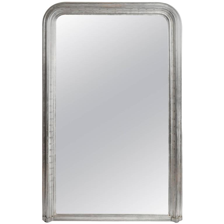 Silver Leaf Mirror with Original Glass and Silver Backing 1