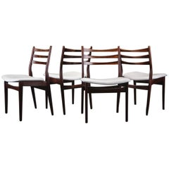 Set of Four Hardwood Swedish Dinning Chairs