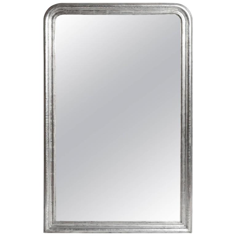 Silver Leaf Mirror with Original Glass and Silver Backing
