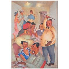 """Negro Night Club,"" 1945 Painting Depicting African American Social Life"