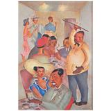"""""""Negro Night Club,"""" 1945 Painting Depicting African American Social Life"""