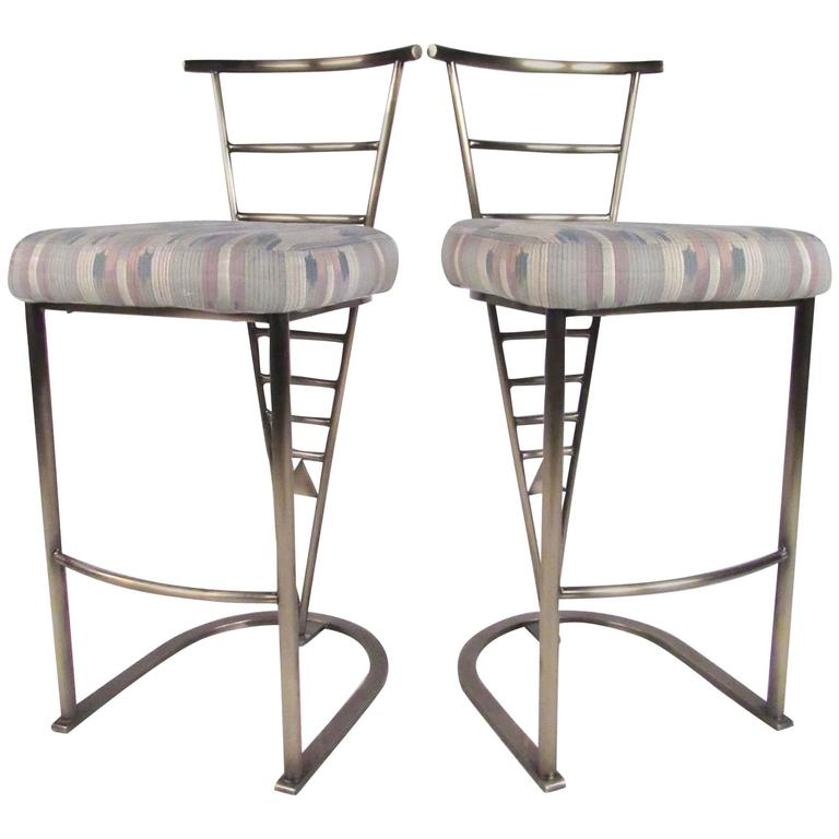 Pair of Contemporary Modern Bar Stools by DIA