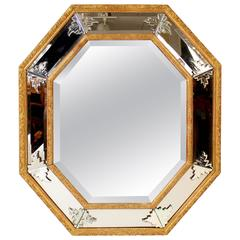 Louis XIV Style Venetian Giltwood Mirror