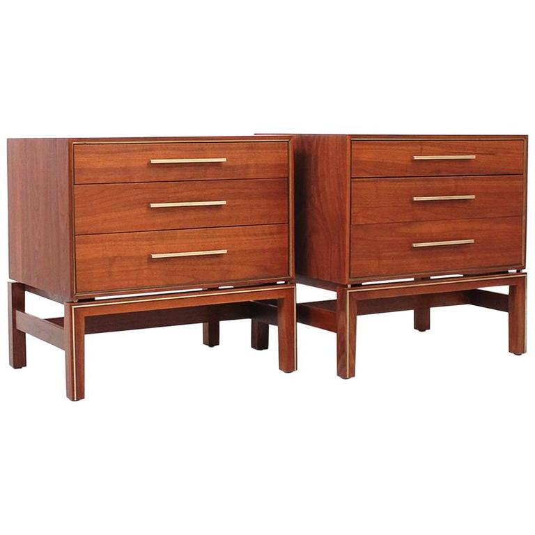 Pair of Nightstands by Johnson Furniture
