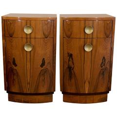 Pair of Rosewood Veneer Gilbert Rohde for Herman Miller Nightstands