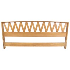 Mid-Century Modern Paul Frankl King-Size Bed Headboard