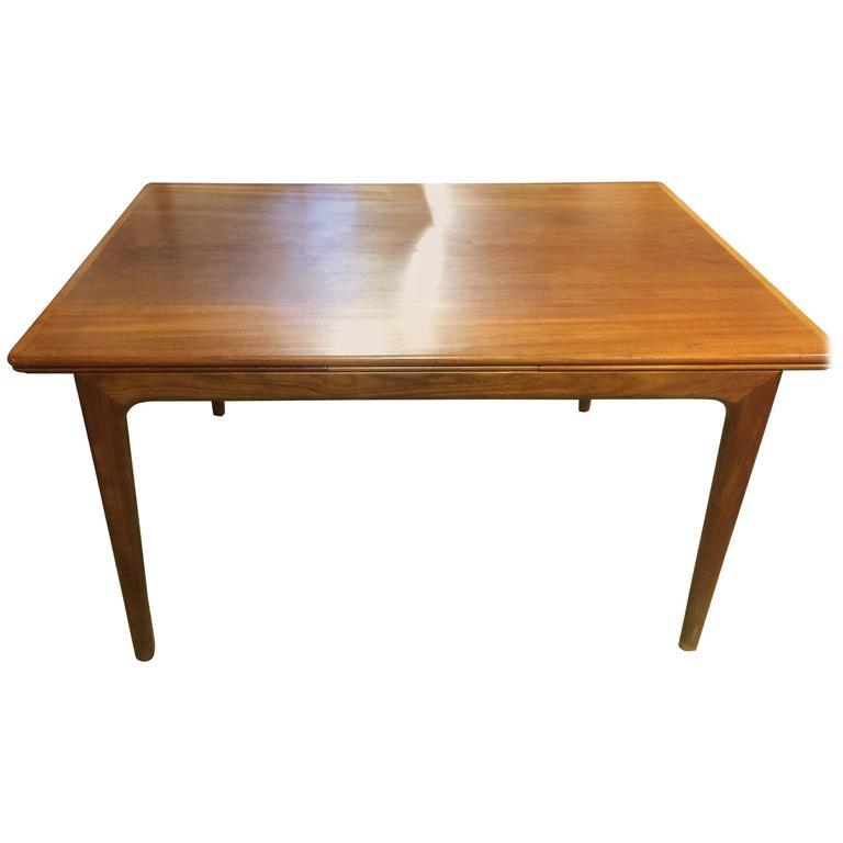 danish teak dining table mid century modern legs burke tulip base tables for sale