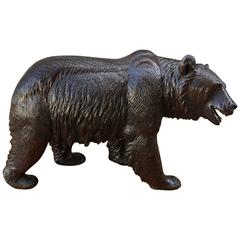 Carved Swiss Early 20th Century Bear