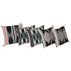 Set of Five Miniature Navajo Weaving Pillows