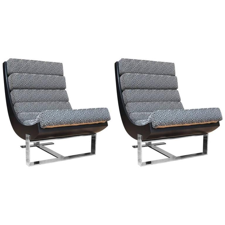 Jay Spectre Style Lounge Chairs