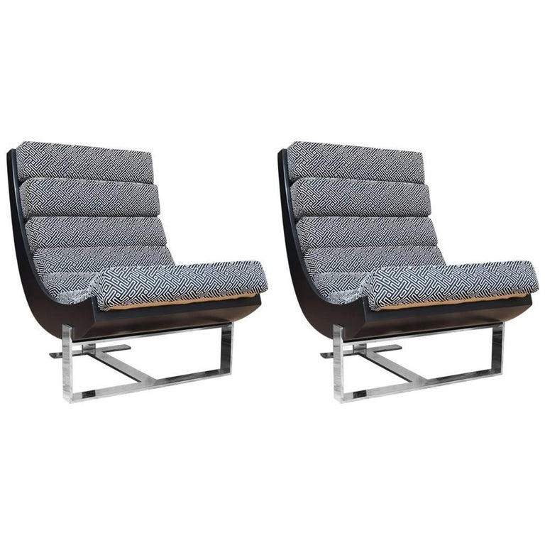 Jay Spectre Style Lounge Chairs For Sale